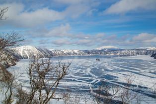 Lake Mashu, an endorheic lake formed in the Caldera of an active volcano - said to have th