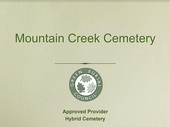 MCC Green Burial Certificate