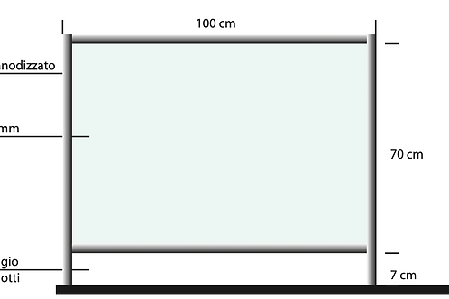 barriera pannello 100x100 neutro
