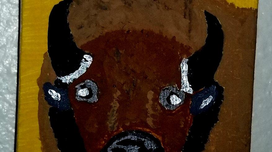 """2.5"""" x 2.5"""" Buffalo painting"""