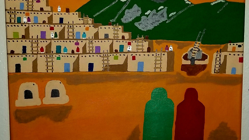"Pueblo People 11"" x 14"""