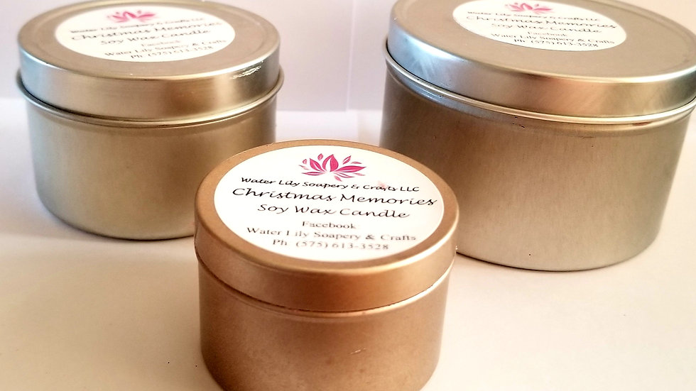 Small Tin Soy Wax Candle 1.5oz