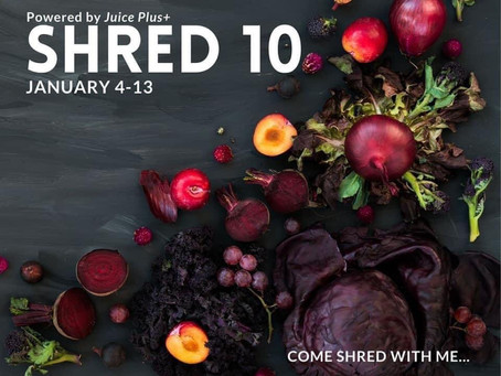 It's Here!!! Shred10.           10 Days to Healthier Habits!