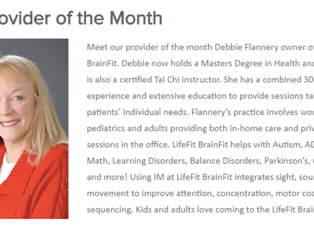 """Flannery Selected """"Provider Of The Month"""" Out Of 30,000 Interactive Metronome Providers"""