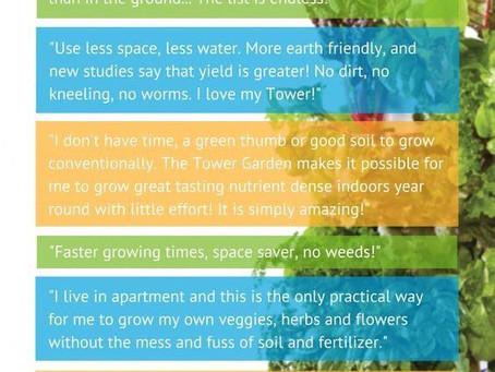 Tower Garden Benefits!