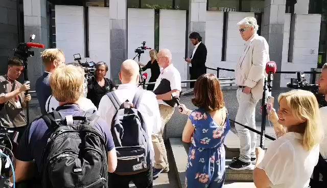 Pressekonferansen etter dom i Eirik Jensen saken.