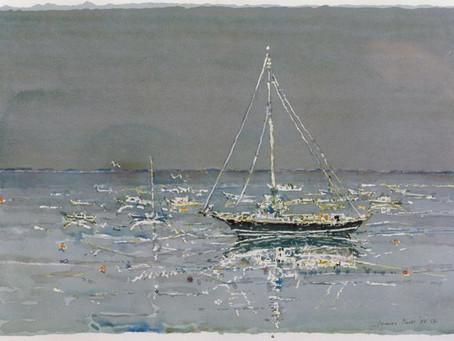 Boating with Lamar Dodd