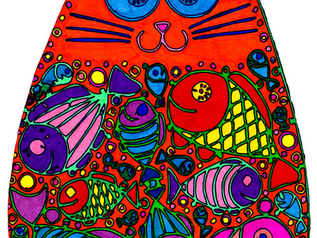 Kitty Kat Coloring Sheet