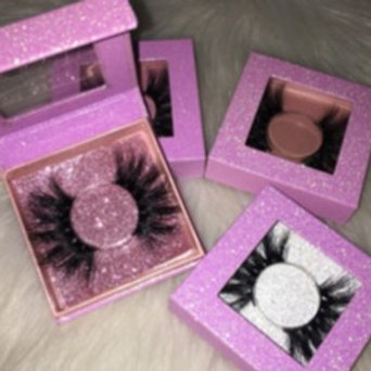 Pink glitter mink lashes