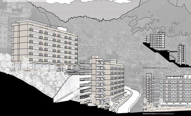 3 propostas residencias para a favela da Rocinha  Three residential proposals for the slum