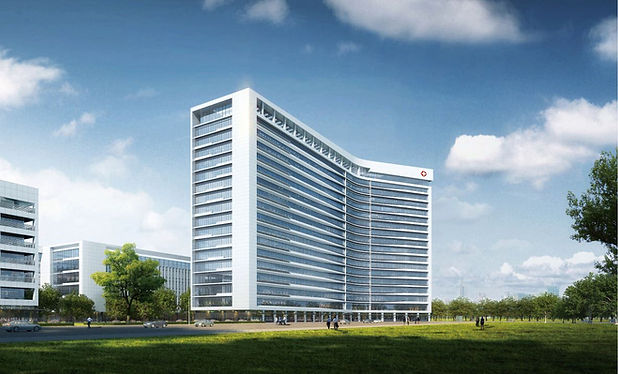 Huangping District People's Hospital (central branch) project in Wuhan China.JPG