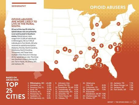 Wilmington, NC ranks #1 for opioid abuse