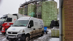 IMS Cheshire van at silo cleaning lo