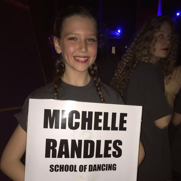 Michelle Randles School of Dancing Sign x