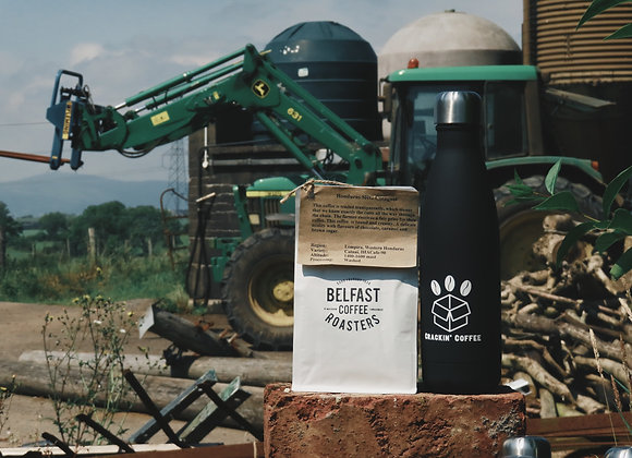 Crackin Bosh Bottle + 1-Bag Crackin' Coffee
