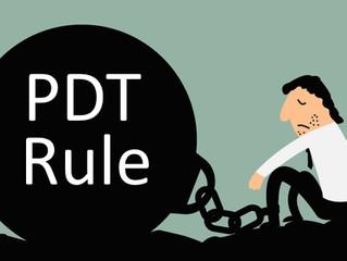 PDT Rule What is it?