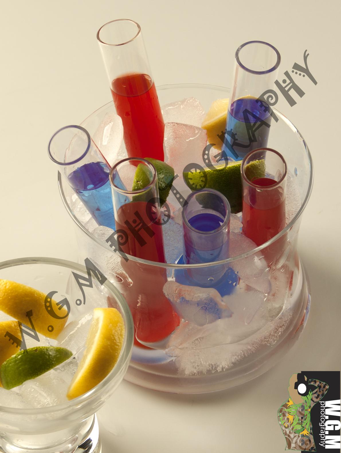 glass with lemon & lime