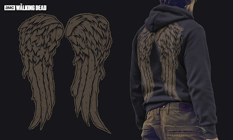 Jon-laser-the-walking-dead-wings-hoodie-