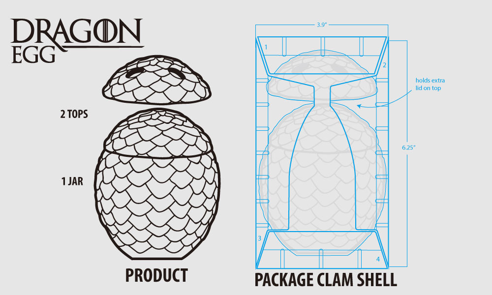 Dragon Egg Package Design