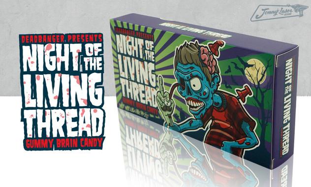 Threadbanger Gummy Candy Brains Package Design