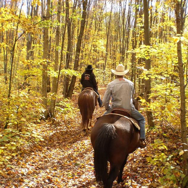 Ballade à cheval à proximité du Rocadel