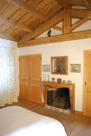 Chambre double avec cheminée