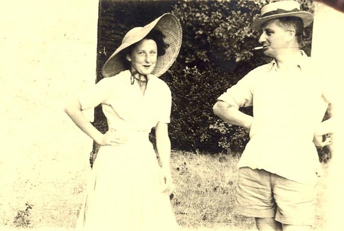 Marie-Madeleine et Georges Azais au Roca