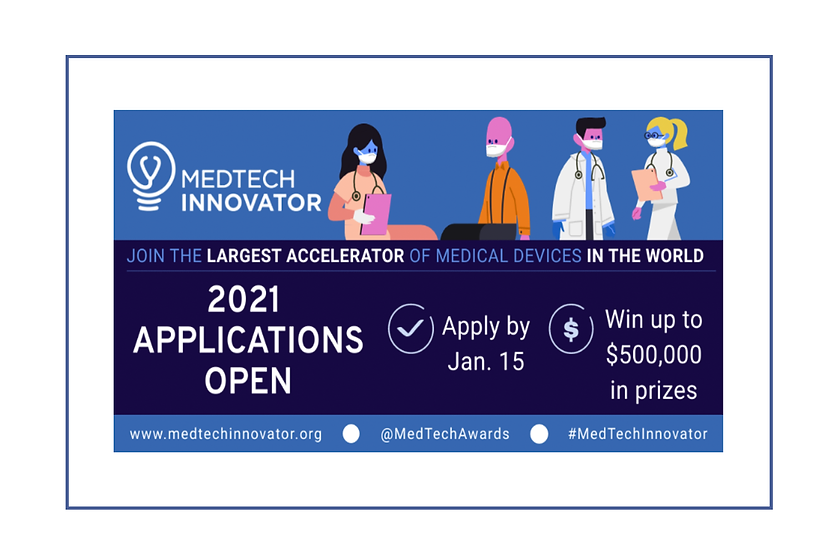MedTech Innovator 2021: Call for Applications