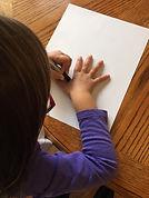 Handprint activity Piel,corazon y cielo.