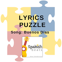 CoverTPT_LyricsPuzzle_BuenosDias_Short+FunSpanishBeats_Ana_Calabrese