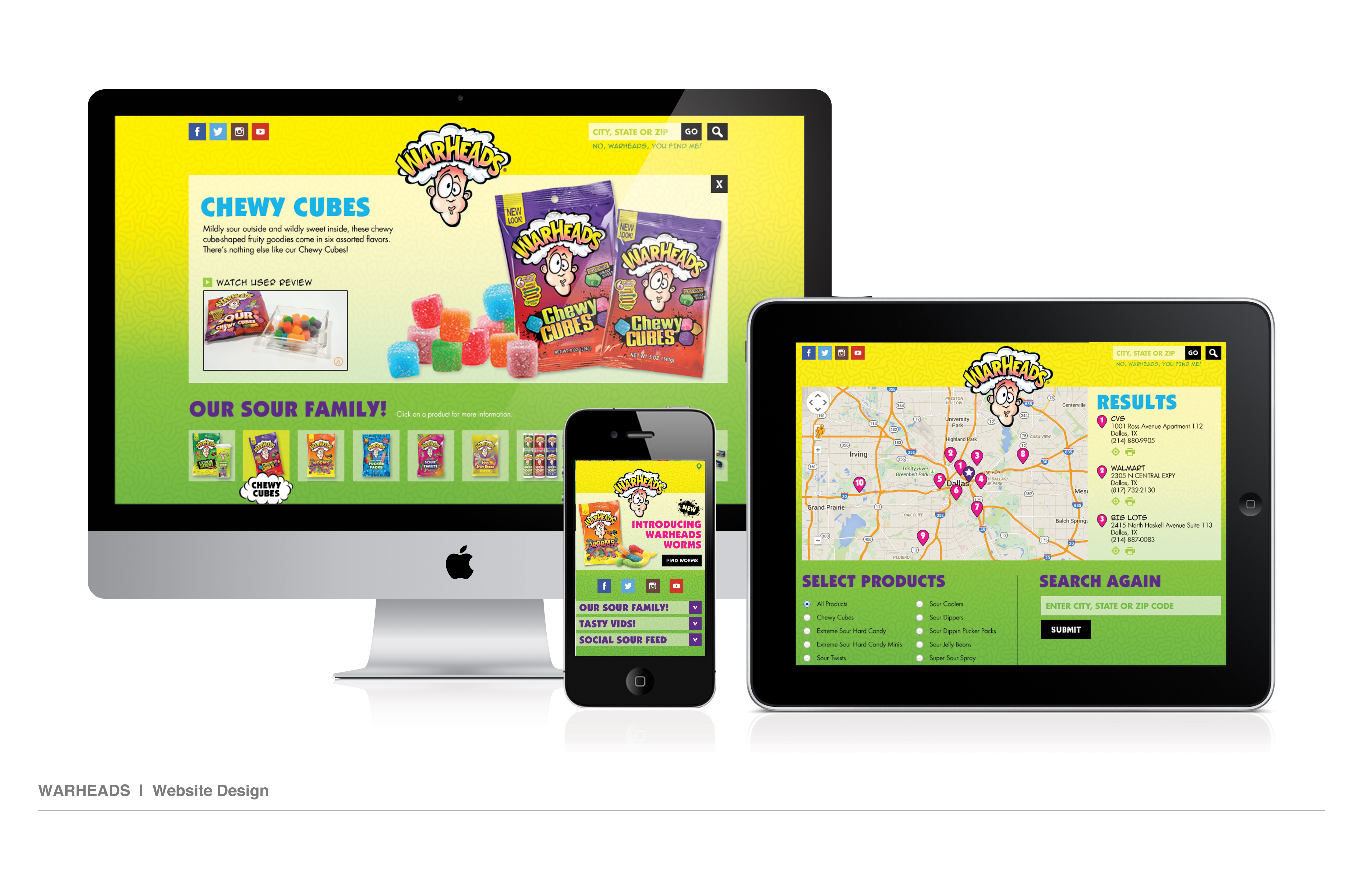 Warheads Website