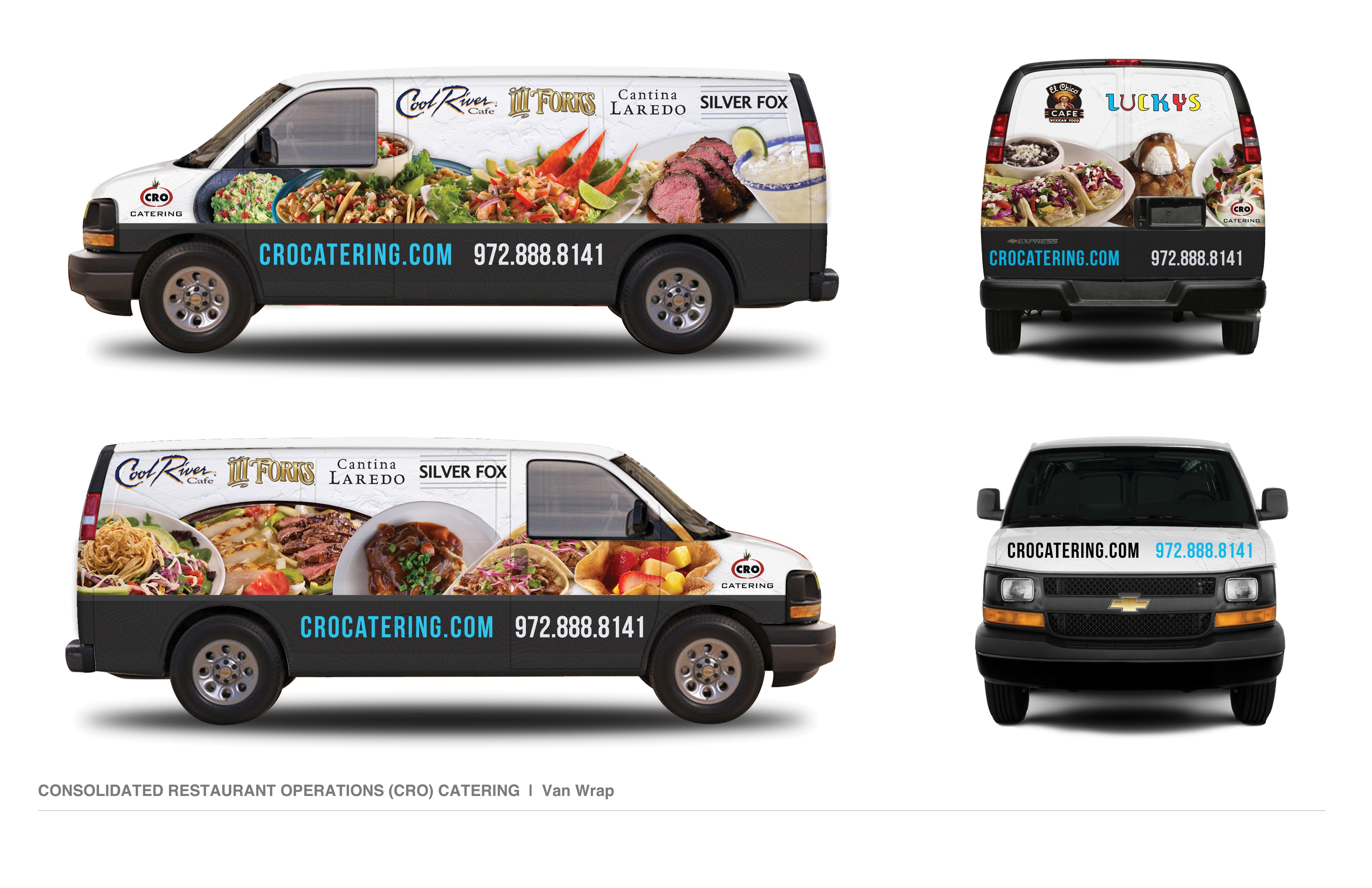CRO Catering Van Wrap