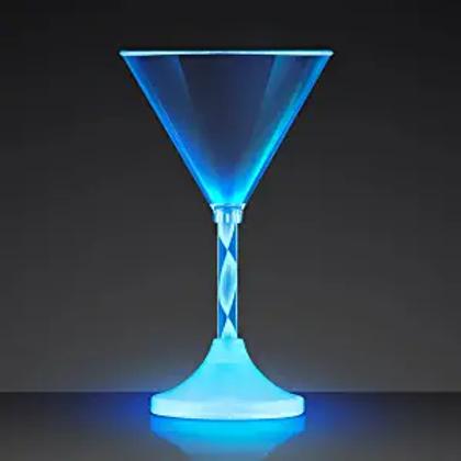 LED Plastic Martini Glasses (Set of 2)