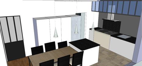 Visuel 3D cuisine Horizon déco 91
