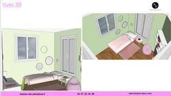 Chambre Ado 3D décoration 92