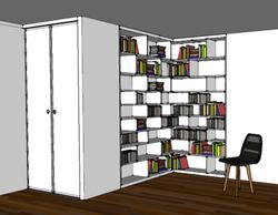 3D bibliothèque Horizon deco 91