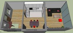 Agencement décoration visuel  3D 92