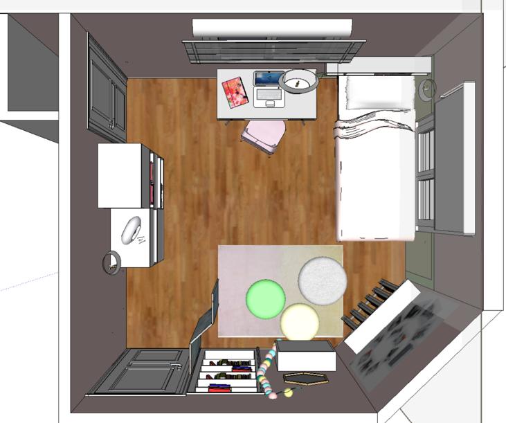 Implantation 3D Chambre Horizon déco