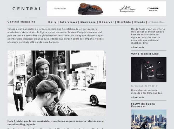 Central Magazine [Strush Wheels] interview