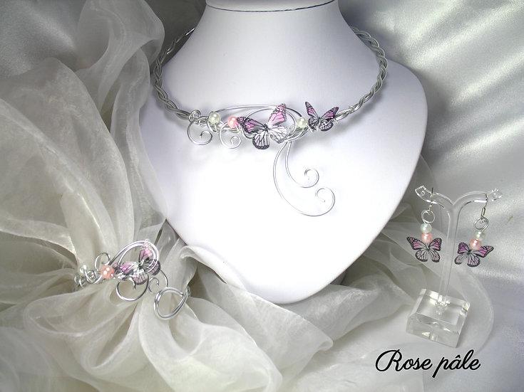 RESERVE Laure Cétou Parure 4 pièces Alona Rose pâle
