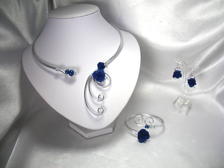 Roses Bleu marine
