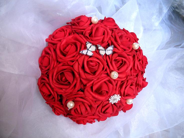 Bouquet de mariée fleurs artificielles