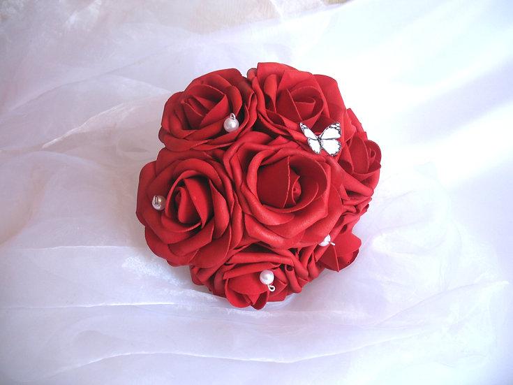 Bouquet de demoiselle d'honneur fleurs artificielles