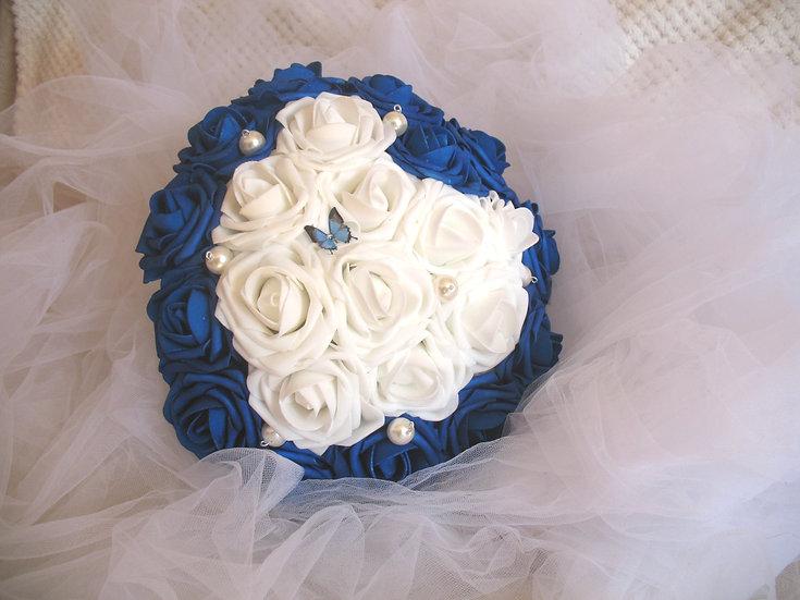 Bouquet de mariée Coeur fleurs artificielles