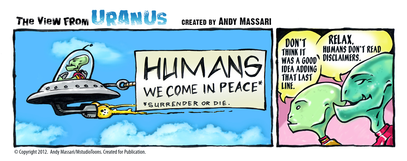 A View from Uranus Comic Strip
