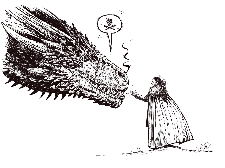 Drogon & Jon Snow