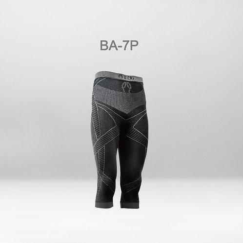 Ba7 bamboo compress pants 7 points U.CR+ 無縫橫向機能無墊七分褲 -竹炭