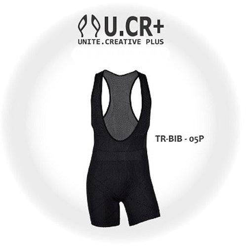 U.CR+ TR-5PBIB - 5point 竹炭壓力機能吊帶褲