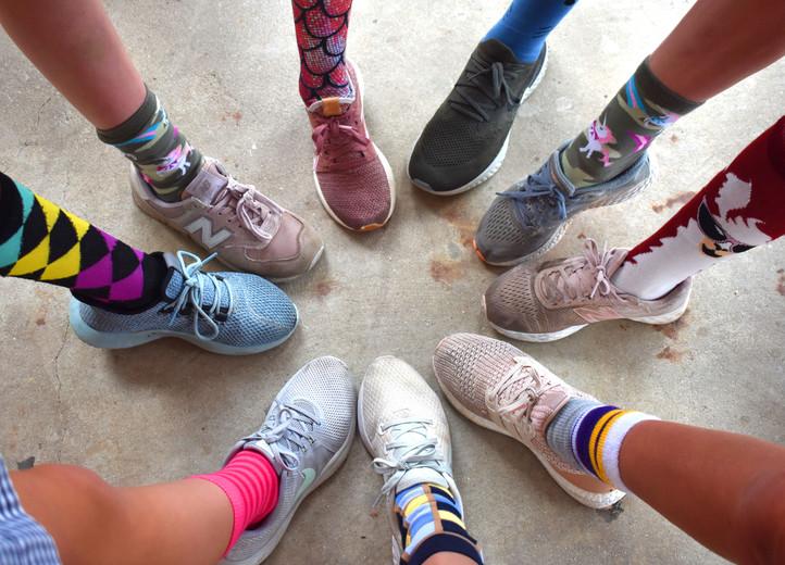 meredith homecoming week socks.JPG