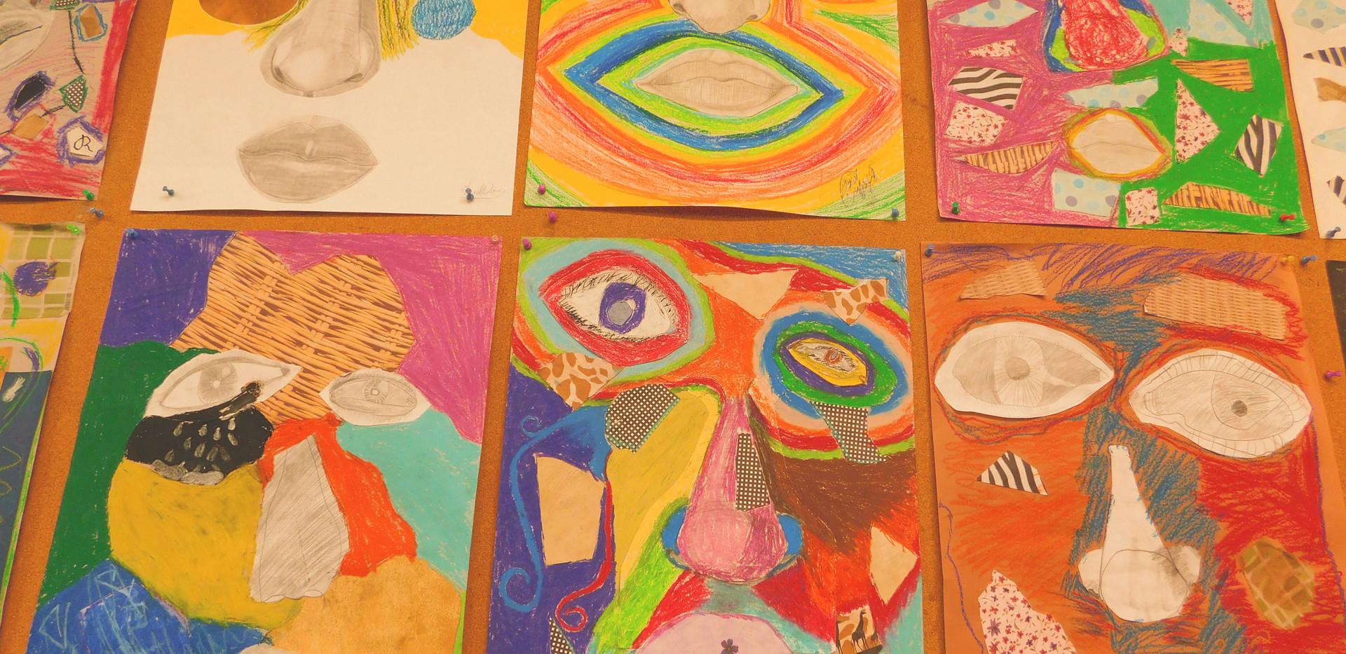 drawings in art class avery.JPG